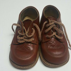 StrideRite Brown Leather lace up Oxford Shoes